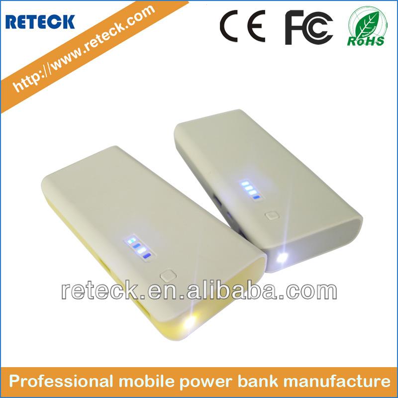big capacity universal portable plastic power bank for macbook pro /ipad mini made in china