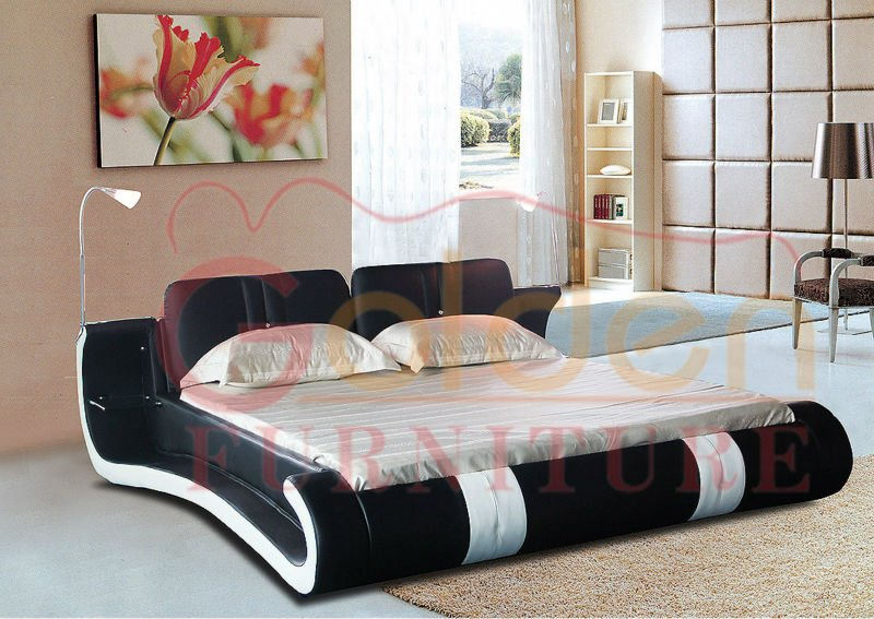 Super quality bedroom furiture latest bed designs i912 for Bed design photos