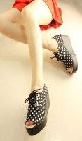 gk275 высокое качество рыбы рот высокой платформе леди плоская обувь женская мода повседневная обувь Размер 35-39
