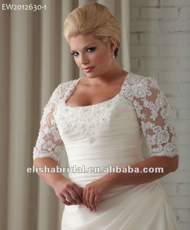 Dark Ivory Plus Size Wedding