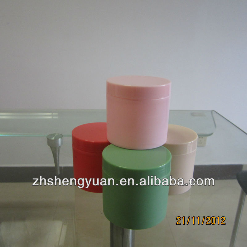 cosmetics package with PP material round cream jar