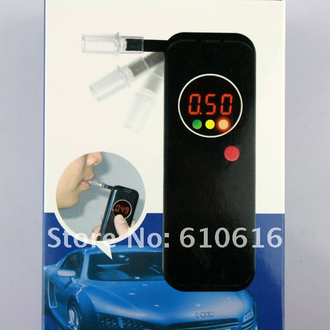 LCD Police Digital Breath Alcohol Tester Breathalyzer