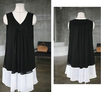 Платье для беременных retail and fashion maternity wear clothing summer dress chiffon skirt sleeveless Pregnant women black