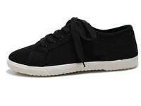 Женские кеды Women Solid Black/Grey/White Canvas Shoes 231999