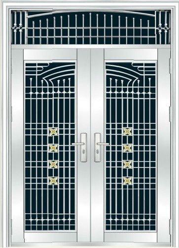Steel door with grill design bg ss9080 buy door grill design