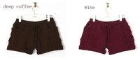 Autumn&Winter Korean VIVI Style Short Pants Woolen Knitting Big Size Thick Shorts for Women Free Shipping