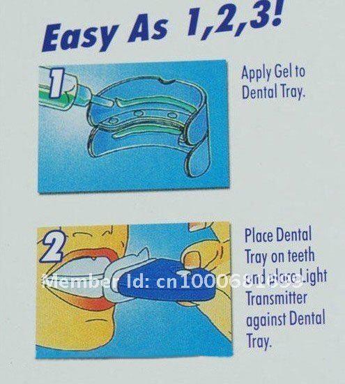 free shipping whitelight White Light Whitener Teeth Whitening System wholesale 5pcs