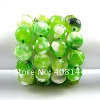 Free Shipping! Beautiful Fresh Green Fire Agate Round Faceted Loose Beads 8mm-48pcs Strand/Loose Stone