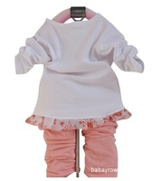 Комплект одежды для девочек children babyclothing set baby girls suit girls coat+t-shirts+pant fit 1-3years pink red size 6 8 10 12