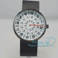 Наручные часы Men MENS Three Circle Stainless Quartz Wrist Watch Watches Xmas Gift Ship