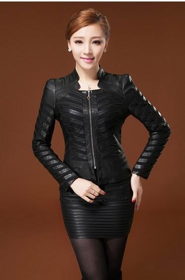Женская одежда из кожи и замши A slim 888