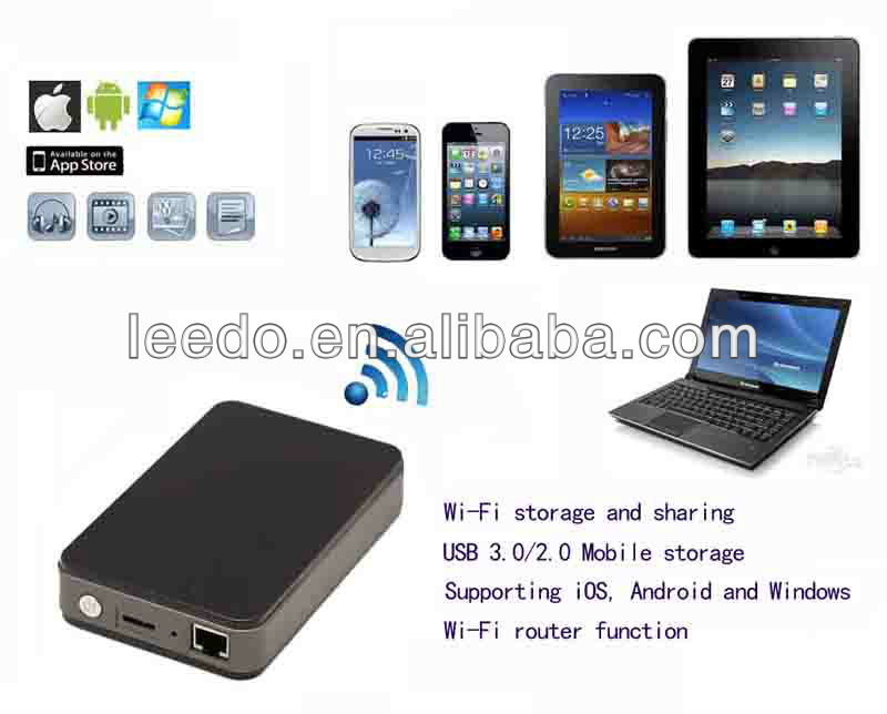 USB3.0 2.5inch SATA External HDD Wireless Hard Drive For Mac