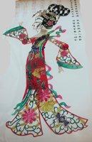 Товары для ручных поделок Fashion lady Yang EMS Shipping Shadow play Fork art craft Handmade carving Figurine For decoration souvenir or gift
