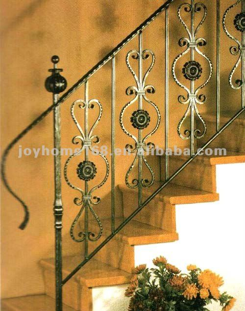 Wrought Iron Stair Handrail/Decorative Staircase Railing