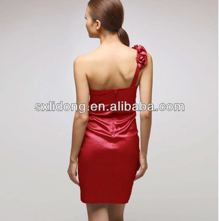 Designer One-shoulder Red Dresses Wedding