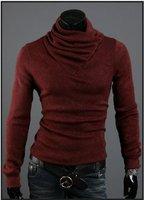 Мужской пуловер Men's Bottoming shirt, Man knitting sweater, leisure choker, high collar backing shirt, and retail 6510