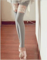 HOTSALE!! Free Shipping, Lace knee Leggings, Women's Pants, Women's Leggings,Tights, 2012 New Fashion Type