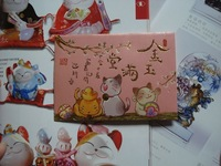 120pcs/lot bulk sale maneki neko lucky cat fortune cat gift red envelopes money red packets hongbao