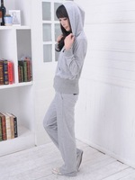 NEW sports 2012 womens hoodies! Leisure even cap long sleeve sport suit /Shirt and pants/2 colors/woman coat