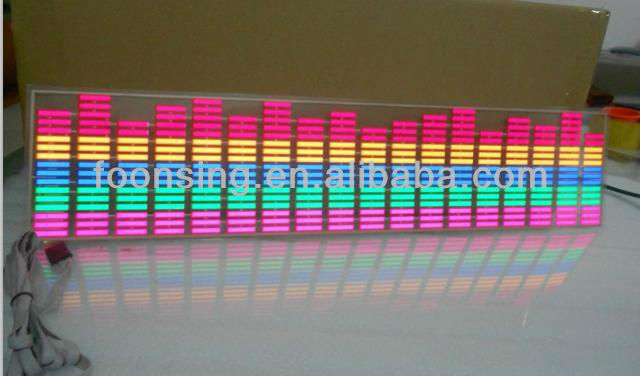 led rythm light sound activated car equalizer el car sticker