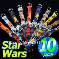 Наручные часы Christmas gifts! 5pcs/lot Children watch cartoons Star Wars 3D Battery gift