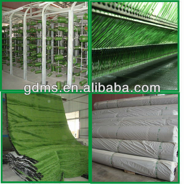 Practical synthetic grass for rubber back anti-slip area rug