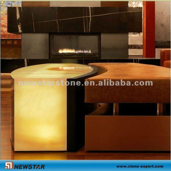 Newstar transparent backlit onyx glass