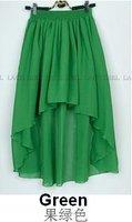 Женская юбка New Fashion Two Ways Irregular Skirt Dovetail Elegant Chiffon High Low Skirts