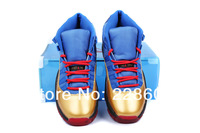 The New Generation Of The New J11 Color Black / Blue & Superman Gamma Sneakers Men's Basketball Shoes 41 - 47