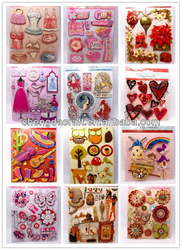 2014 funny design 3d handmade decorative jual wall sticker murah