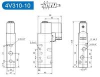 Арматура KOQI A401A 4v310/10 AC 110V 5 2 0.15 0.80mpa 4V310-10