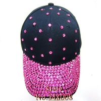 Шапка для мальчиков Brand new Cheap pink color rhinestone crystal baseball cap for women girls hip hop beauty caps hats