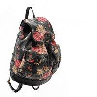 h1065 n взгляд девушки цветочный черный рюкзак школьный портфель падение судоходство