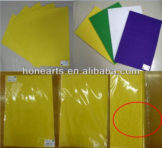 Manufacture Selling square felt sheet/DIY fuzzy felt