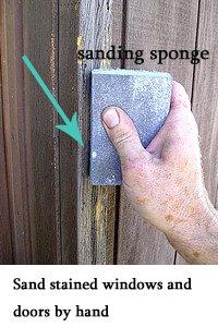 sanding sponge sample