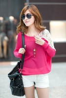 Женский свитер Loose Batwing Sleeve Pullover Knitting Shirt Knitted Sweater Coat Tops Jumper US