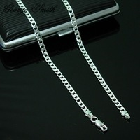 Колье-цепь GSSPN132-24 silver 4mm, 24inchs, classic necklace, fashion jewelry, Nickle antiallergic, factory price