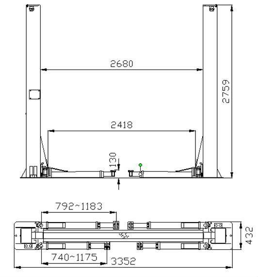 Two Post Manual Lifting Mechanism Buy 2 Post Hoistmanual