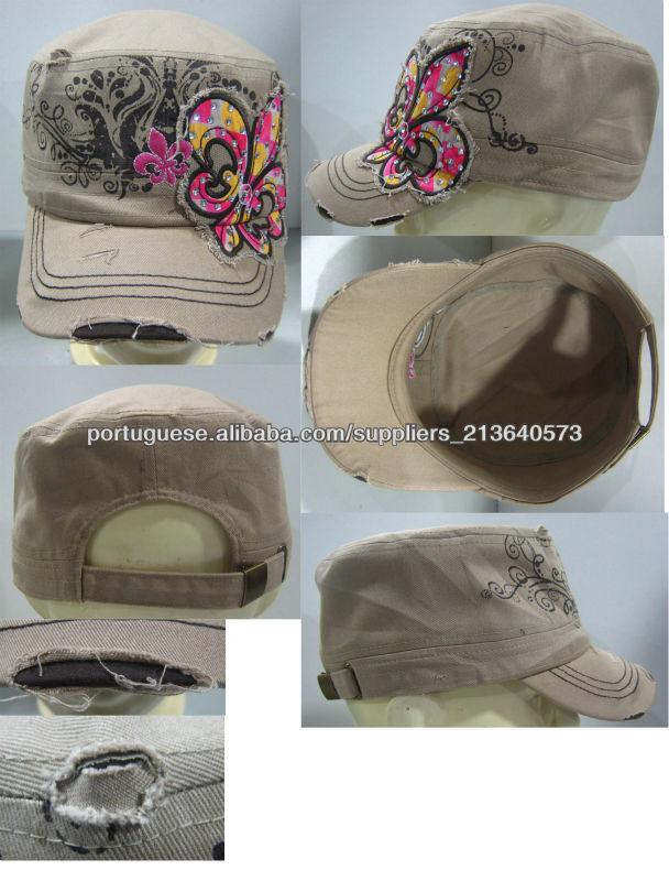 mulheres falsa pedra exército chapéus