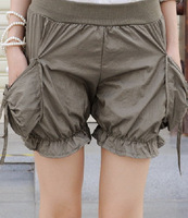 Женские шорты ZRY 627# High Quality New Summer Women's Vogue Shorts Fashion Buttons Bow Personality Shorts Free Size