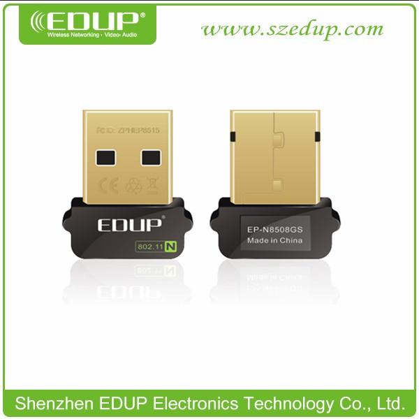 EDUP EP-802.11b/g/n USB MIni Wifi Wireless Network LAN (1T1R) Adapter