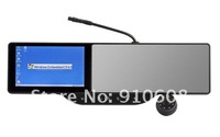 Free shipping Rearview Mirror gps navigation with support garmin/igo/r66 map buletooth Can choose DVR 4G (2012 Newest product)