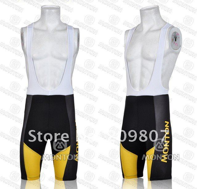 2011 MONTON CHALLENGE Black and yellow cycling jersey short bib suit-YS-3.jpg