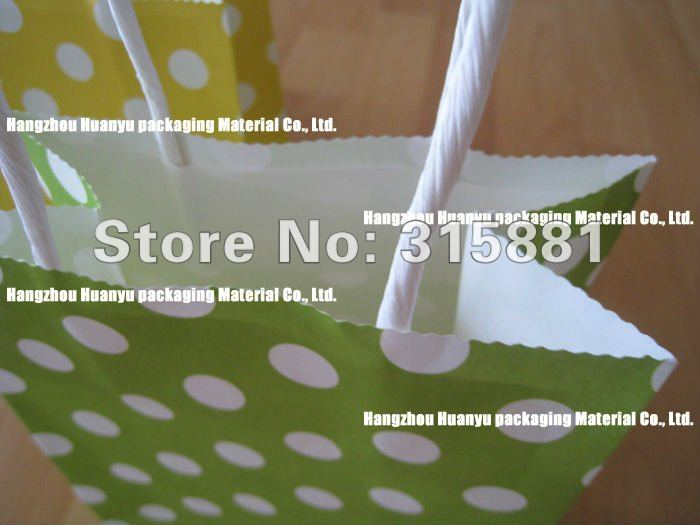 kraft paper bag & Festival gift package, Fashionable gift paper bag, 21X13X8 cm