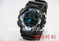 Наручные часы Hot whole sale 2012 fashion shock GA-100-1AD sport bracelet G Digital watch #123