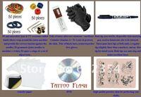 Машинка для тату Beginner tattoo kit power 2 machine gun set 6 ink new arrive