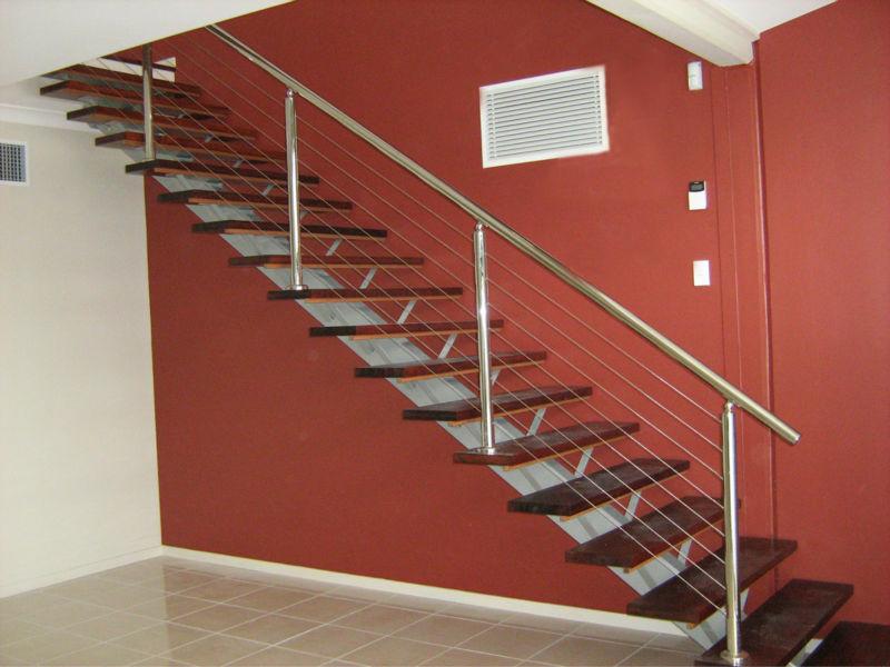 Design, moderner, treppengeländer kommerzielle metall treppe außen ...