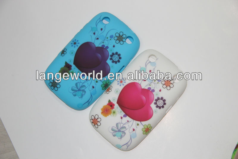 Colourful Printing TPU Case for blackberry 9700