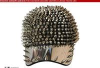 Женская бейсболка Hedgehog Hiphop Men Women party dance ball Hat Spikes Spiky Studded flat visor Cap