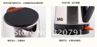 Wholesale - 10pcs/lot New Arrival !!! SKG Brand Famous SKG Electric Fashion Design Teapot Stainless Steel Kettl